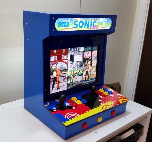 diy arcade cabinet kits more 2 player w 17 lcd. Black Bedroom Furniture Sets. Home Design Ideas