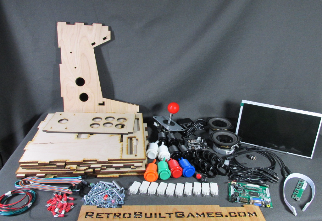 Diy arcade cabinet kits more porta pi arcade 10 hd full kit everything you need to build your mini arcade solutioingenieria Image collections