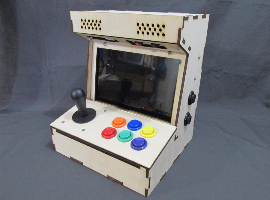 The Porta Pi Arcade is a desktop-sized fully functional arcade cabinet measuring just under 13 x 10 x 10 inches (HxWxD). The full kit is my most popular ... & DIY Arcade Cabinet Kits + more. - Porta Pi Arcade 10
