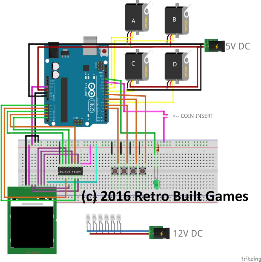 diy arcade cabinet kits more arduino vending machine rh retrobuiltgames com